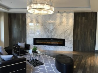 Bianca Carrara Marble Fireplace Facade in book-matched slabs