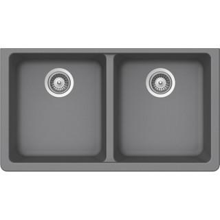 B300 Virtuo Granite Slate Grey Double Bowl_Bristol Sinks_Bella_Marble