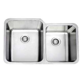 B820_16 Gauge Stainless Double Sink_Bristol Sinks_Bella_Marble